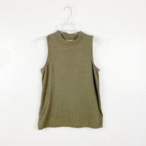 Madewell | Olive Green Mock Neck Tank Top XS